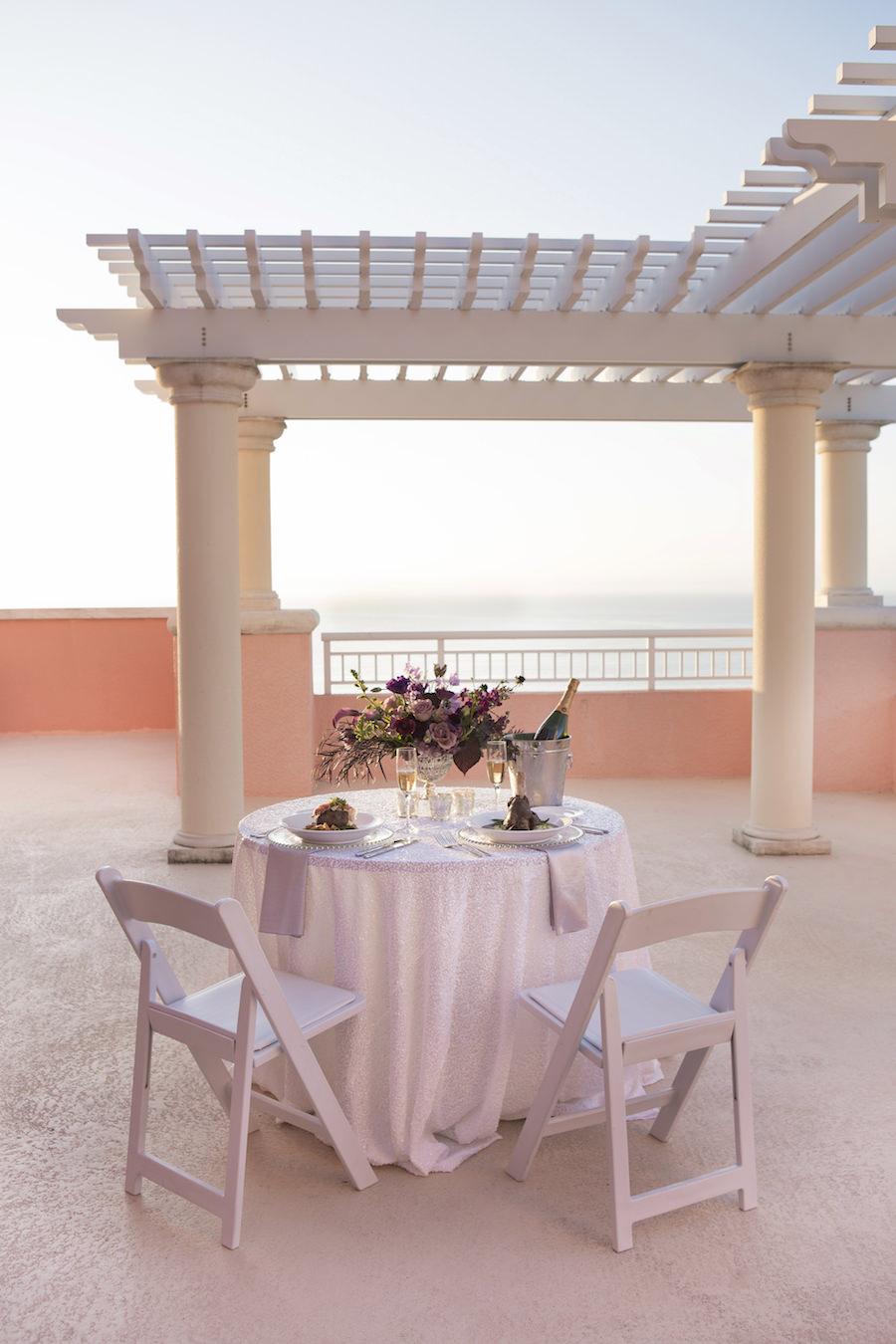 Intimate Engagement Proposal Dinner for Two | Clearwater Beach Wedding Venue Hyatt Regency