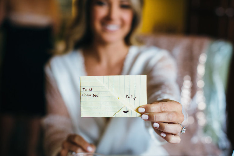 Getting Ready: Groom's Note to the Bride Wedding Day