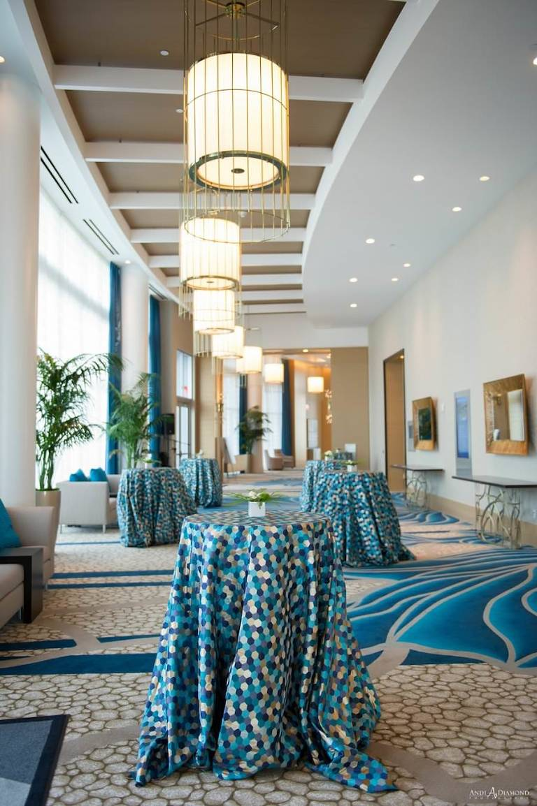 Cocktail Hour Reception Area for Indoor Clearwater Beach Wedding | Clearwater Beach Wedding Venue | Wyndham Grand Clearwater Beach
