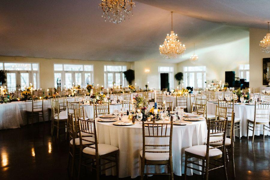 Rustic Tampa Bay Wedding Venue Indoor Wedding Reception  The Lange Farm Brooksville Wedding Venue