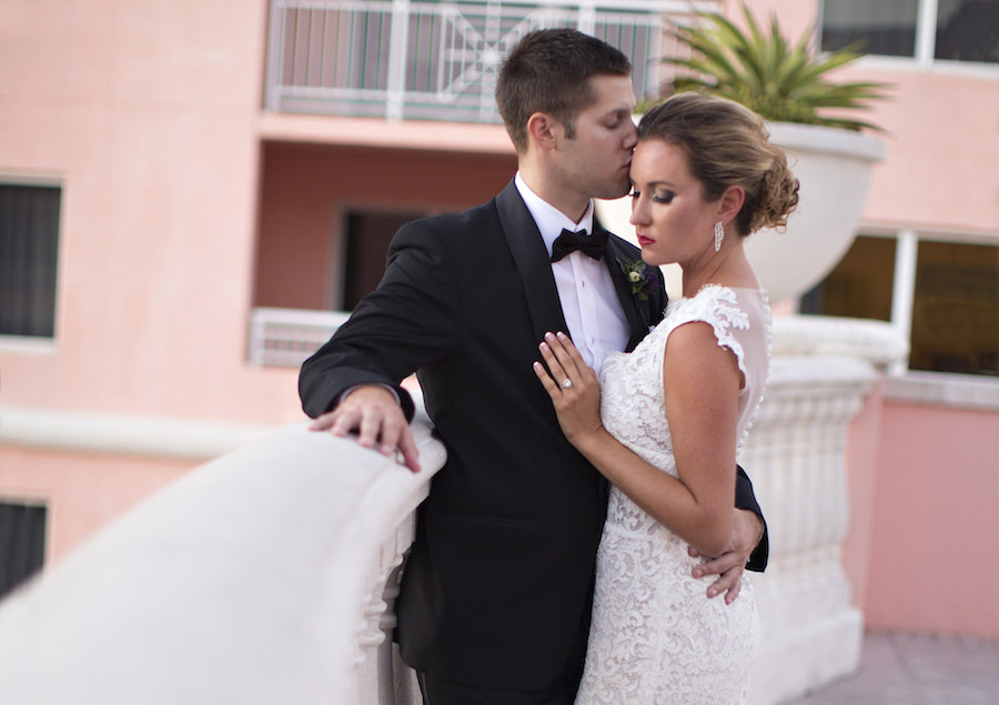 Bride and Groom Wedding Portrait | Lace Wedding Dress from The Bride Tampa | Clearwater Wedding Photographer Djamel Photography
