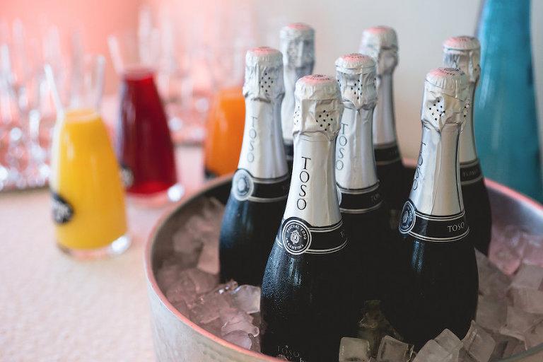 Champagne Wedding Brunch Bar