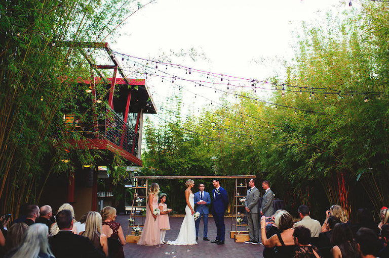 Industrial Chic Outdoor Wedding Ceremony at St. Petersburg Wedding Venue NOVA 535 | Wedding Planner Special Moments Event Planning