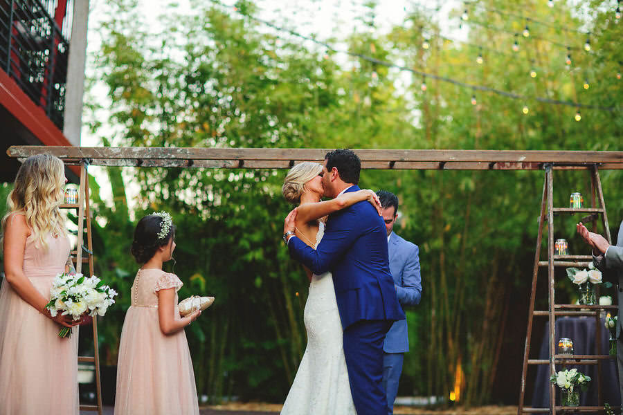 Industrial Chic Outdoor Wedding Ceremony at St. Petersburg Wedding Venue NOVA 535 | Wedding Planner Special Moments Event Planning