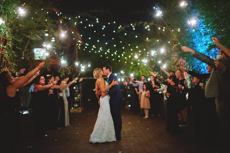 Bride and Groom Wedding Sparkler Exit at St. Petersburg Wedding Venue NOVA 535 | Special Moments Event Planning