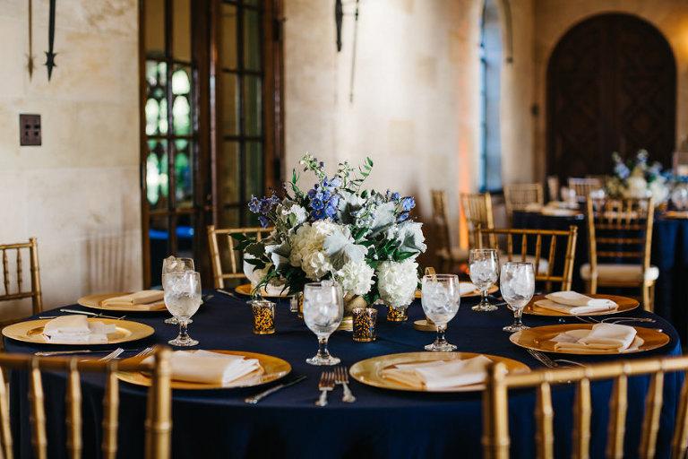 Elegant Navy Blue Gold Sarasota Wedding Powel Crosley Estate