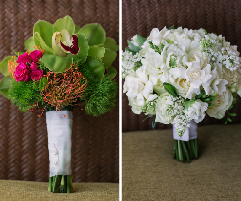 Pink and Green Bridesmaids Wedding Bouquet | Elegant White Wedding Bouquet | Wedding Bouquet Inspiration