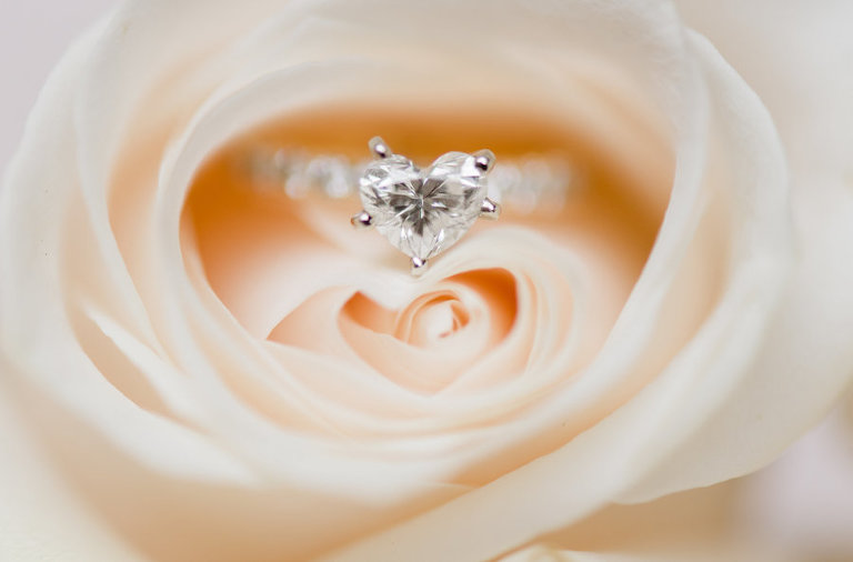 Heart Shaped Engagement Wedding Ring