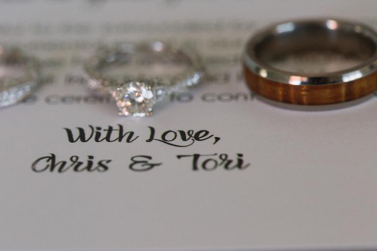 Engagement Wedding Ring with Invitation