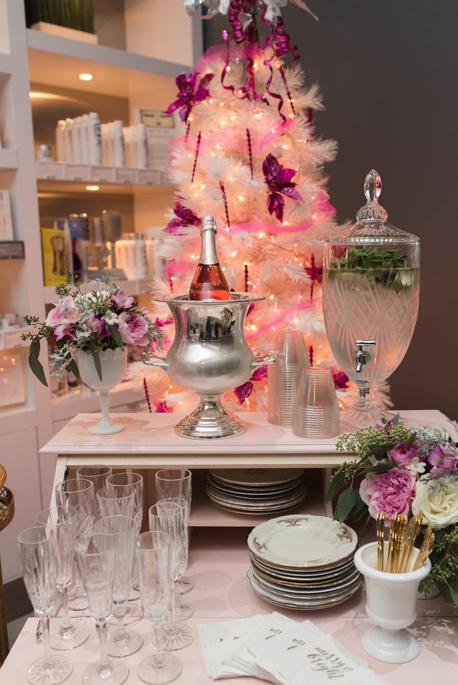 Vintage Furniture Champagne Bar   Tampa Bay Wedding Rentals Ever After Vintage Weddings   Caroline & Evan Photography