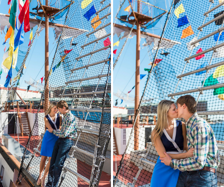 Unique Downtown Tampa Wedding Engagement Portraits on Gasparilla Pirate Ship
