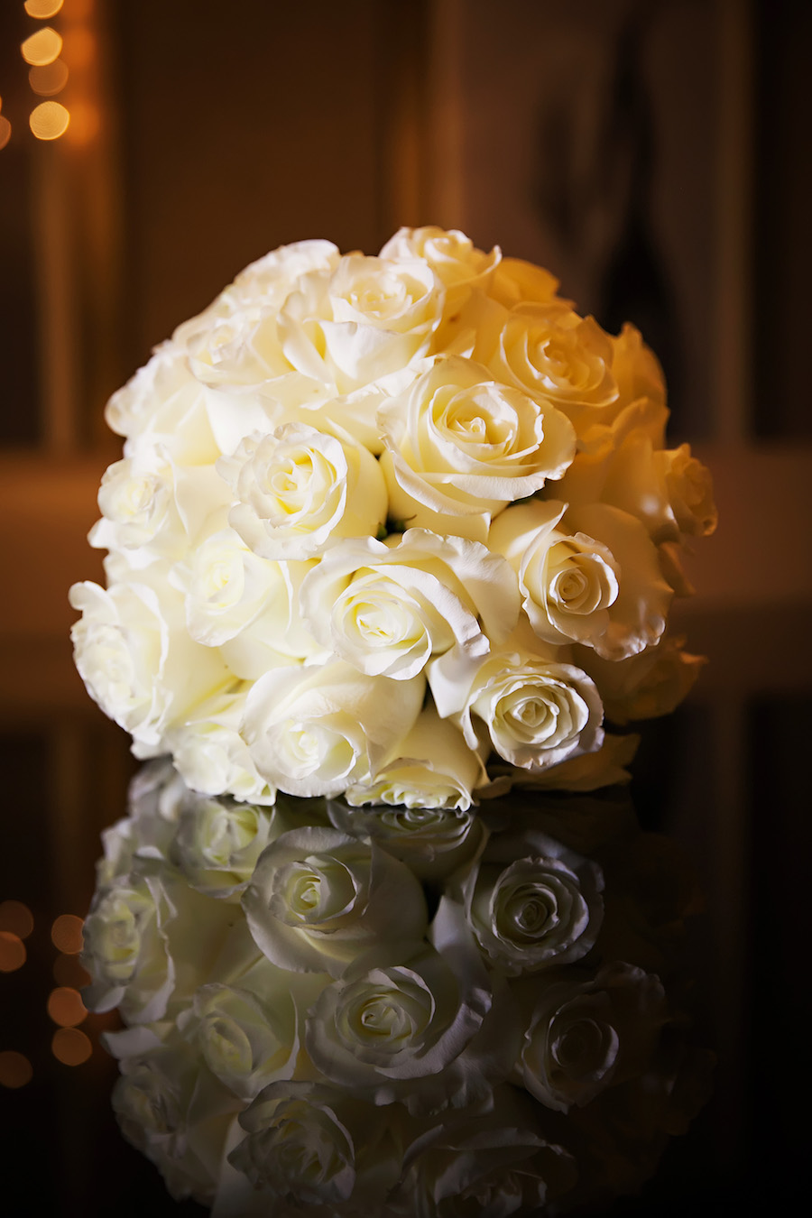 Ivory Floral Wedding Bridal Bouquet of Roses