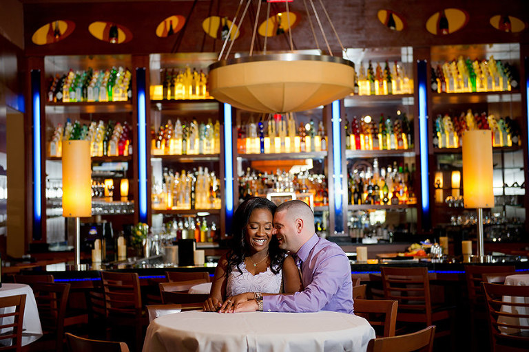 Bar Restaurant Engagement Photo Session | Tampa Bay Wedding Photographer Andi Diamond Photography