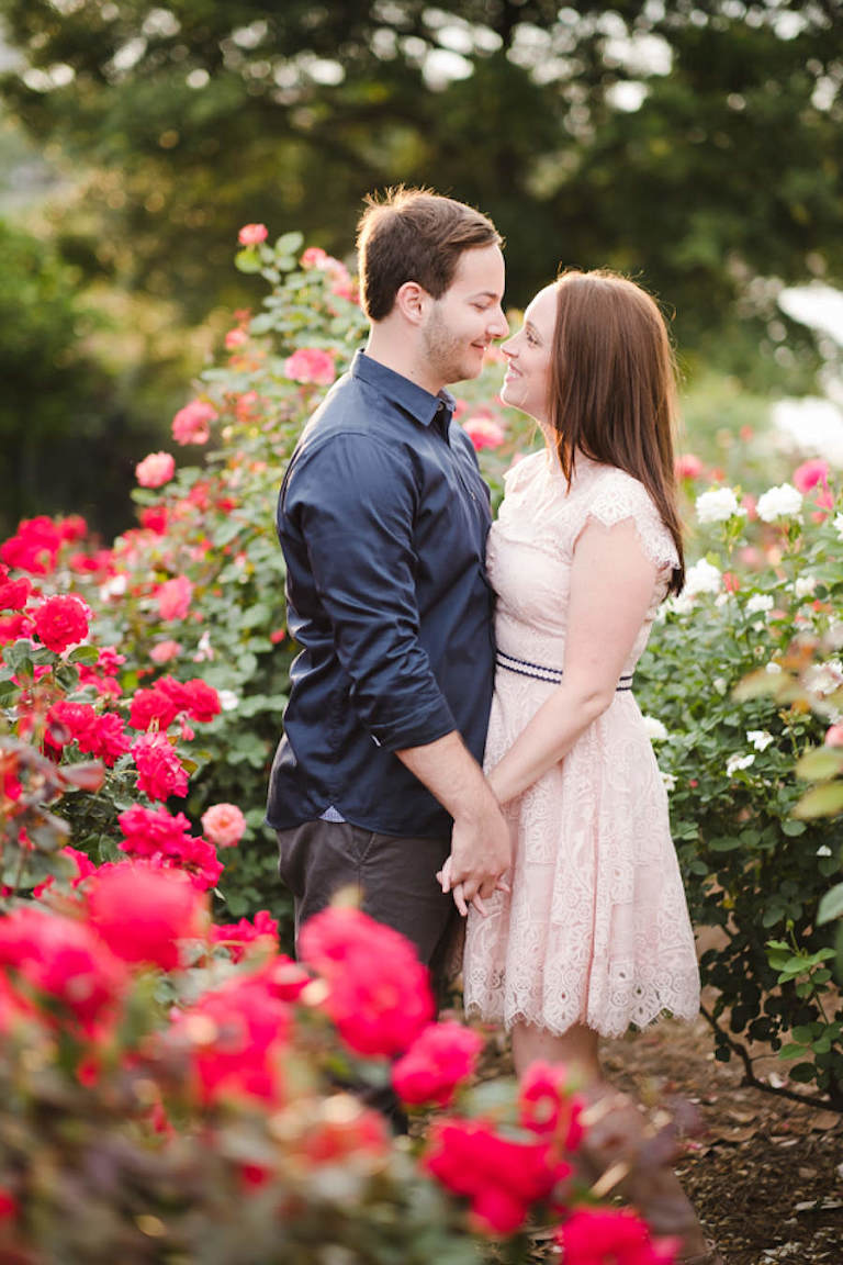 Garden Engagement Photo Session | Tampa Bay Wedding Photographer Marc Edwards Photographs