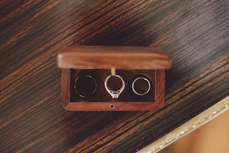 Bride and Groom Wedding Ring Wood Ring Box
