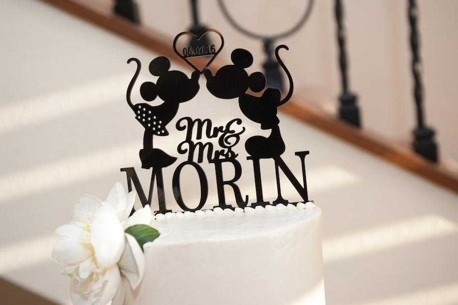 Mickey and Minnie Disney Wedding Cake Topper