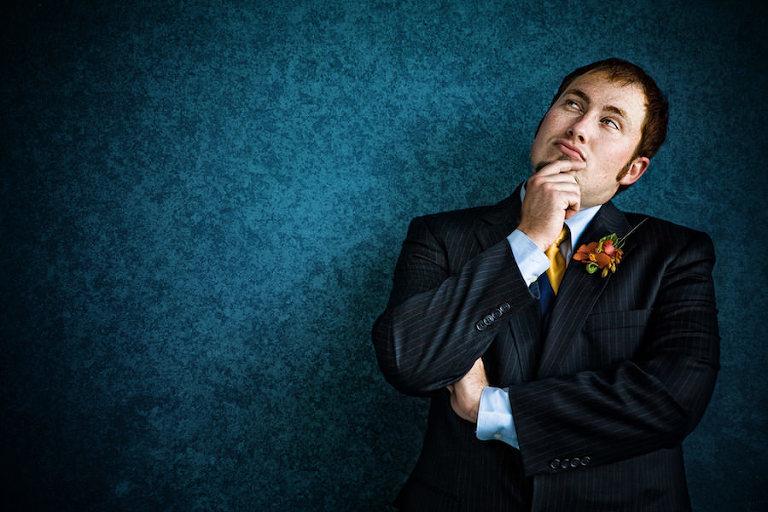 Groom Wedding Portrait in Tuxedo   Brian C Idocks Photographics