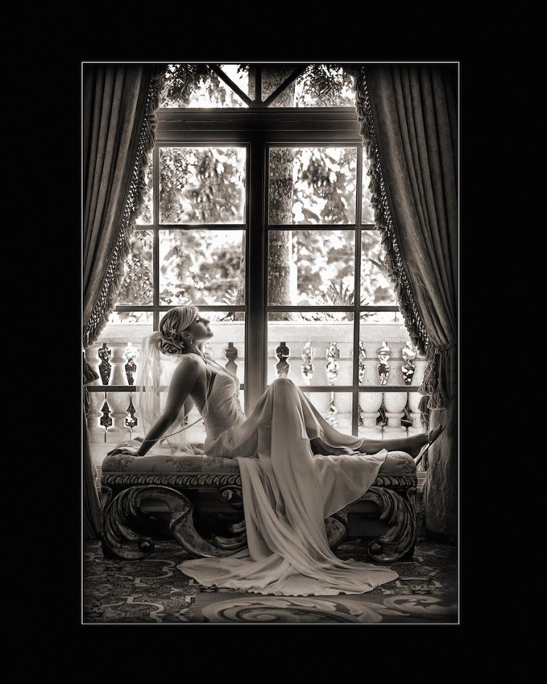 Sexy Bridal Wedding Portrait in Windowsill   Brian C Idocks Photographics