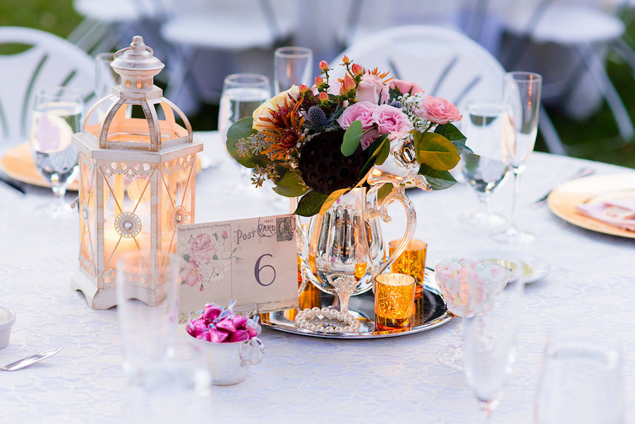 Eclectic Vintage Shabby Chic Centerpieces with Bohemian