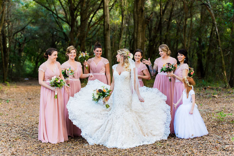 Pastel bohemian and vintage outdoor tampa bay wedding for Wedding dresses tampa bay area
