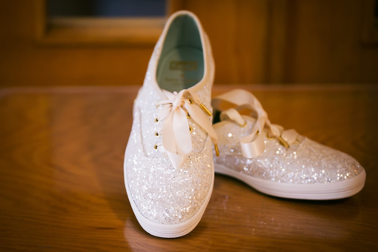 Bride Sparkle Glitter Wedding Tennis Shoes