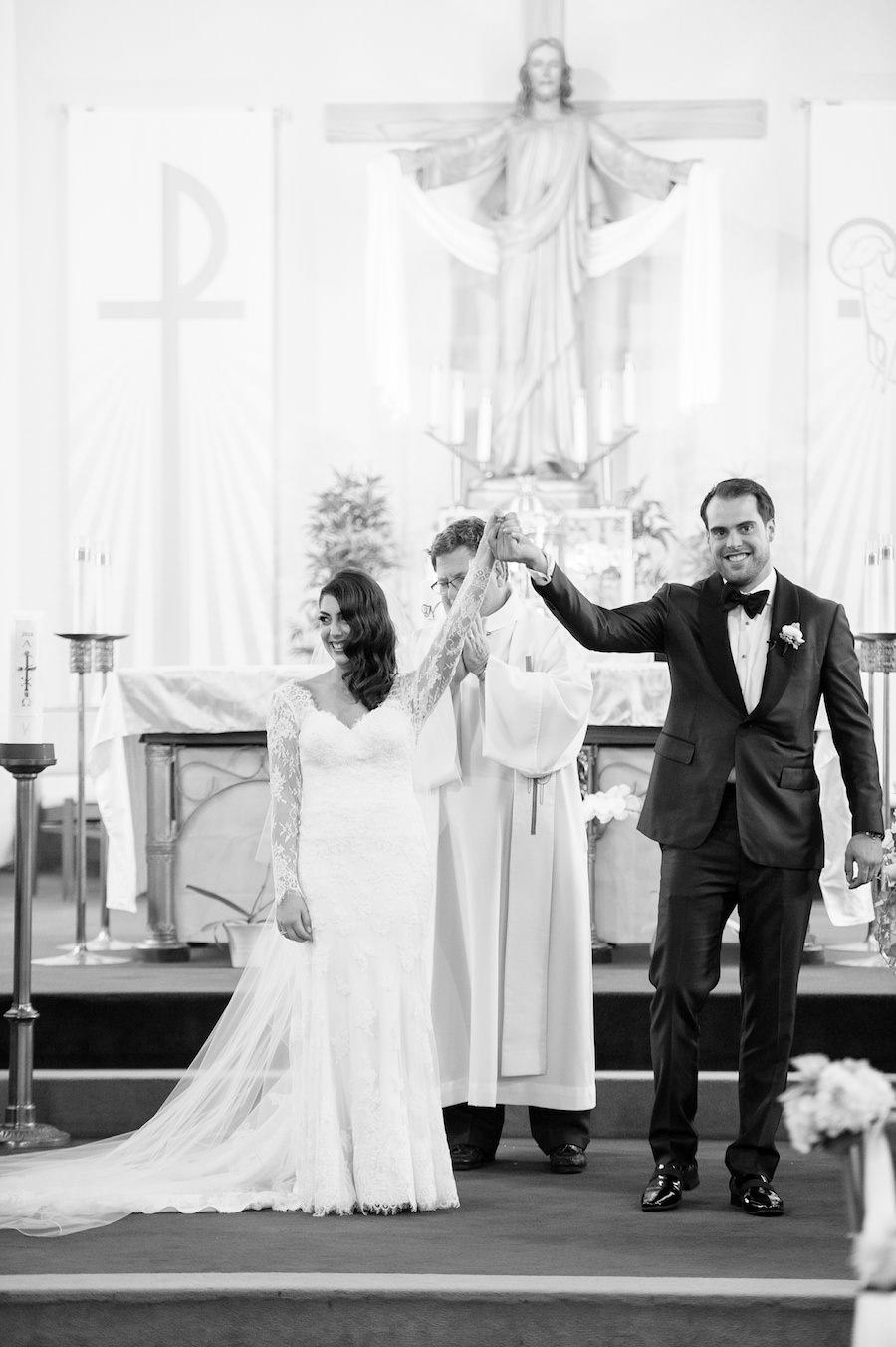 Bride and Groom Say I Do At Tampa Wedding Ceremony | Tampa Wedding Photographer Andi Diamond Photography
