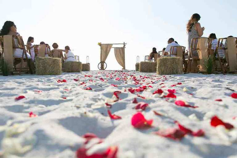 Country-Fair Inspired Florida Beach Wedding Ceremony   Tampa Beach Wedding and Florida Destination Wedding Planners Gulf Beach Weddings