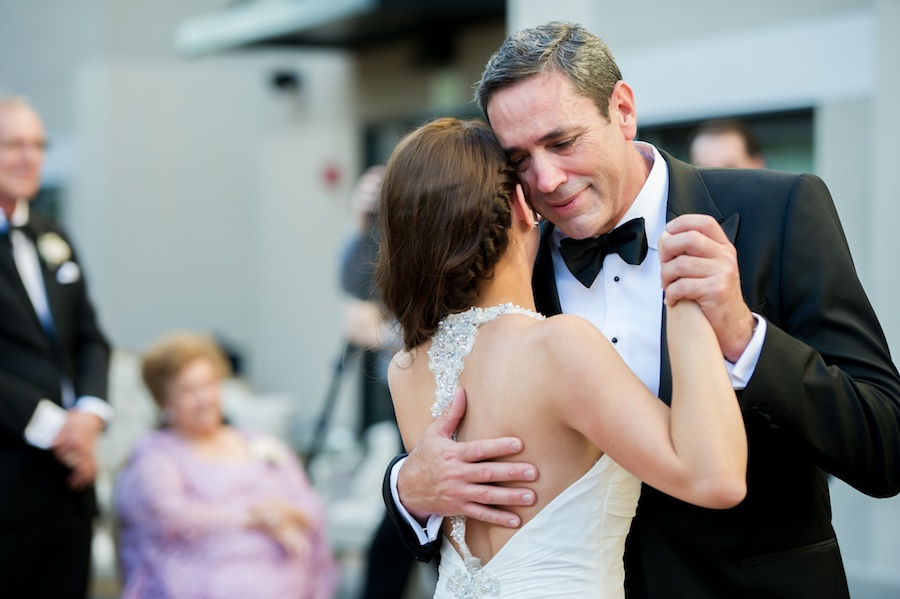Bride and Dad Dancing at Tampa Wedding Reception, Father Daughter Dance