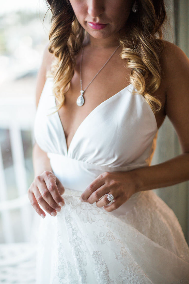 White Beach Style Wedding Dress
