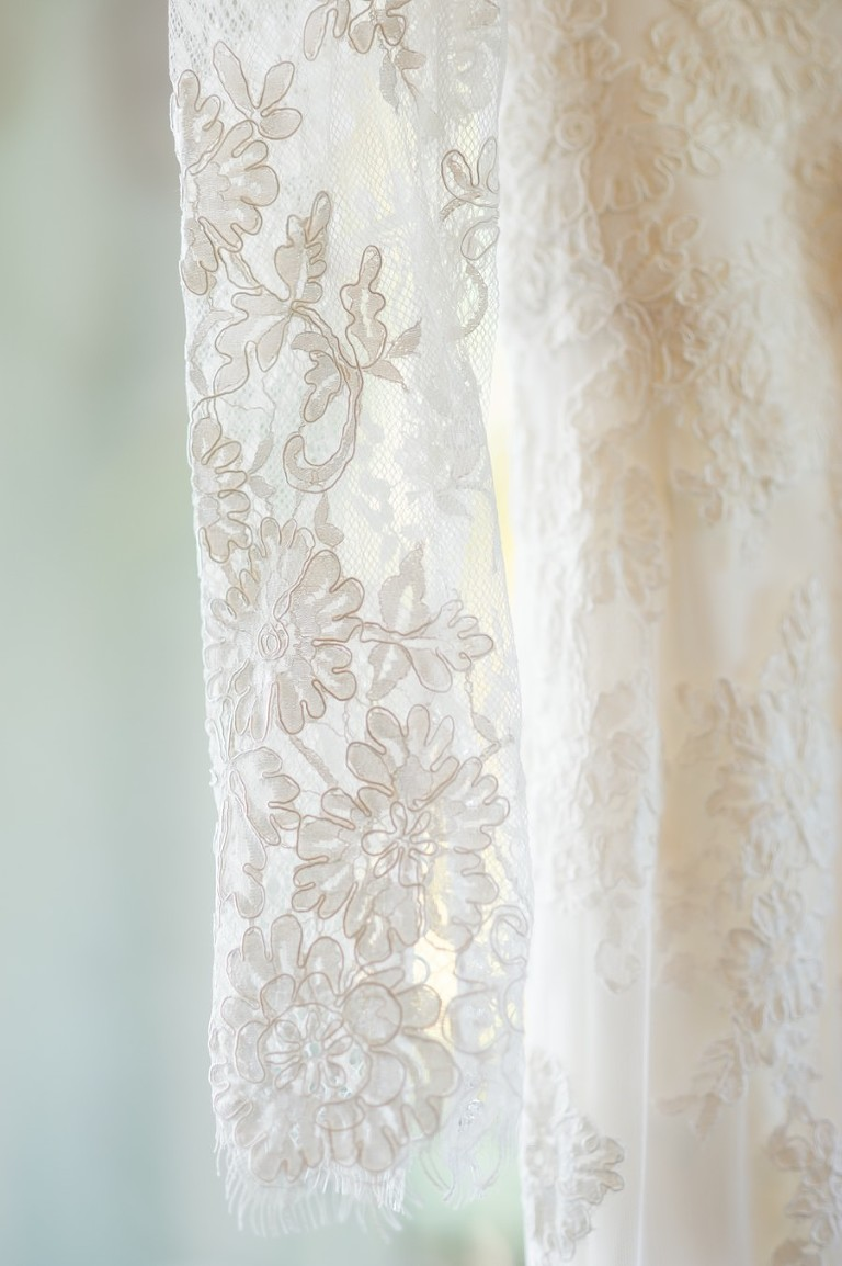 Bridal, Lace, Long Sleeve Wedding Dress Detail