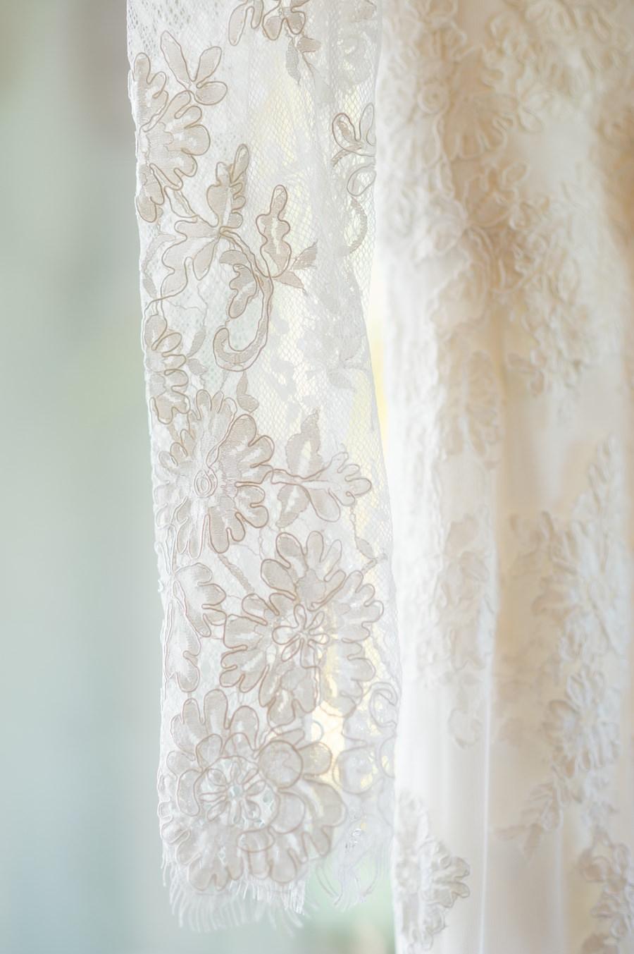 Bridal, Lace, Long Sleeve Wedding Dress Detail