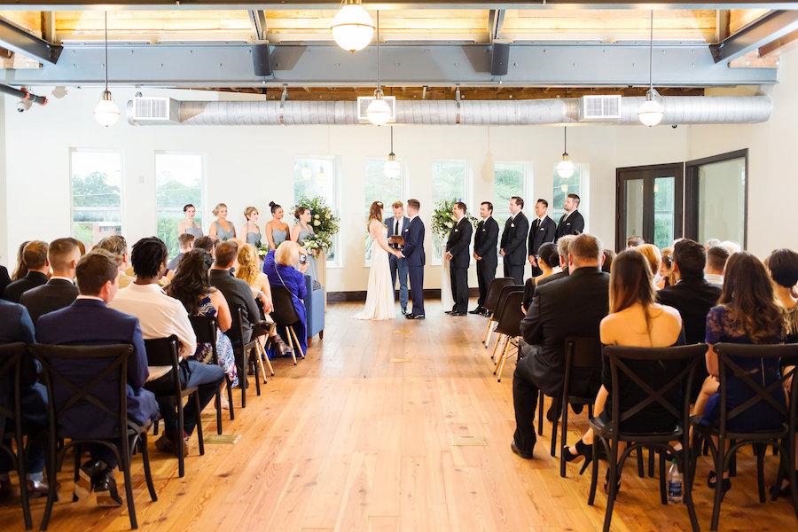 Indoor Wedding Ceremony at South Tampa Wedding Ceremony Venue The Oxford Exchange