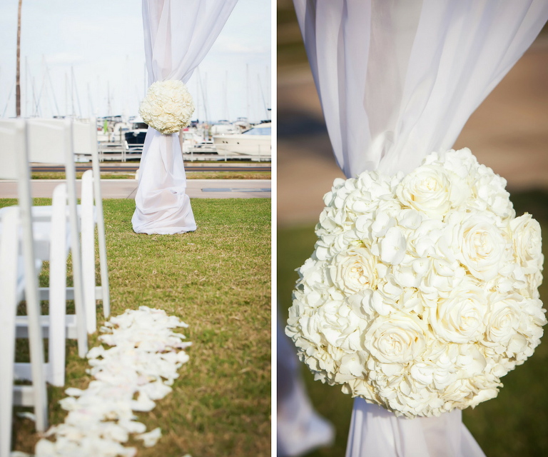 Outdoor Wedding Ceremony Des Moines: Classic, White And Gold Downtown St. Petersburg Wedding