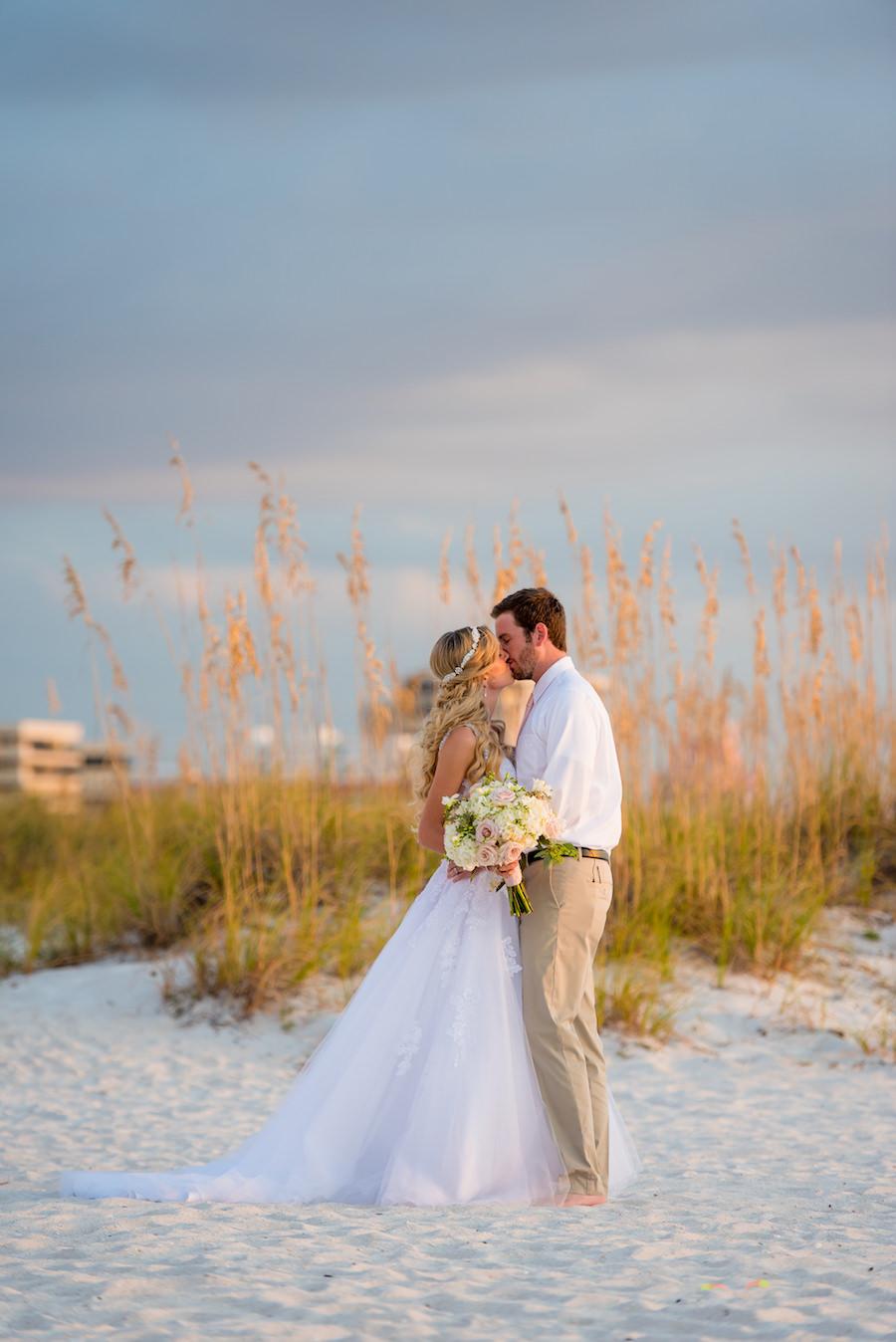 St. Pete Beach Bride and Groom Wedding Portrait | St. Pete Beach Florida Wedding Portrait | Tampa Wedding Photographer Kera Photography
