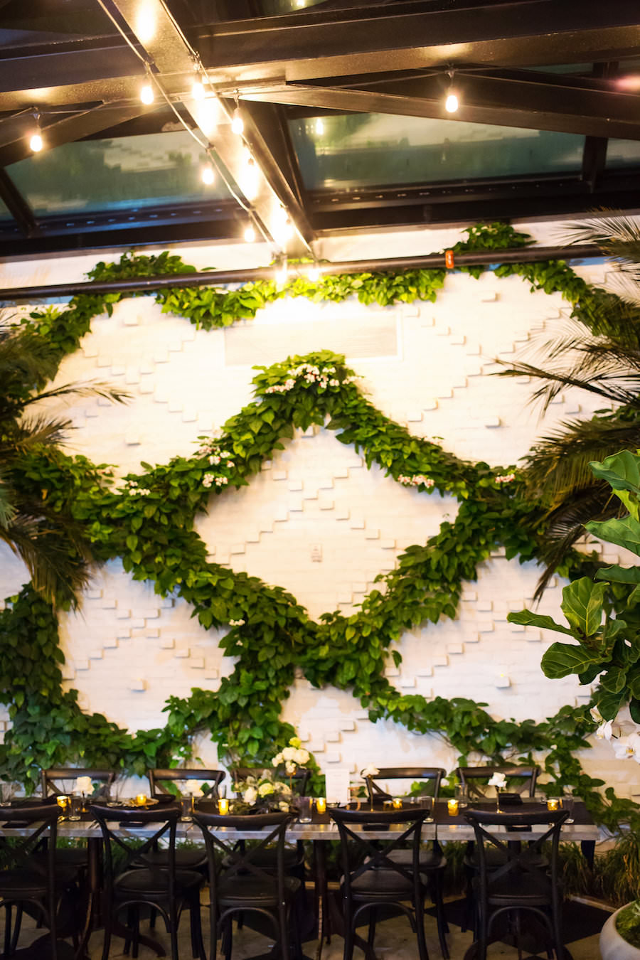 Ivy Wall Interior at the Oxford Exchange Wedding Reception Venue in South Tampa FL