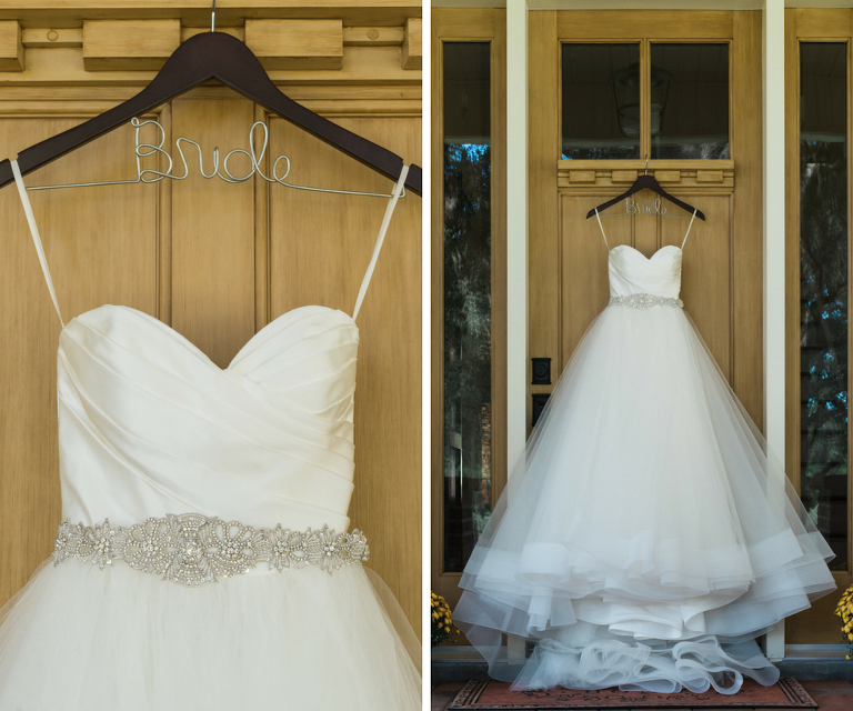 White, Strapless, Ballgown with Tulle Skirt and Crystal, Beaded Sash