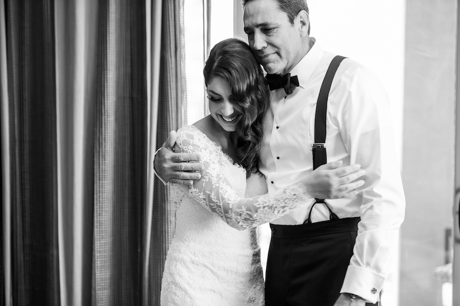 Bride and Dad First Look at Tampa Wedding | Tampa Wedding Photographer Andi Diamond Photography
