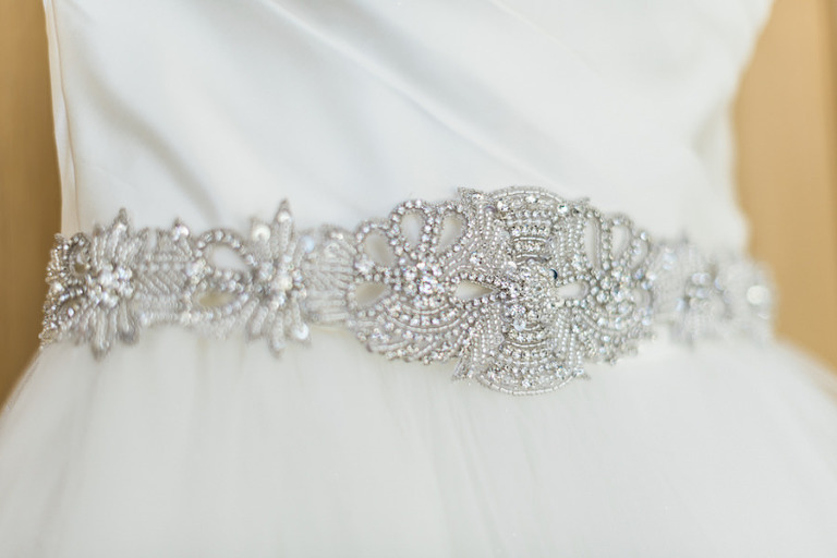 Crystal, Rhinestone Bling Wedding Belt Sash