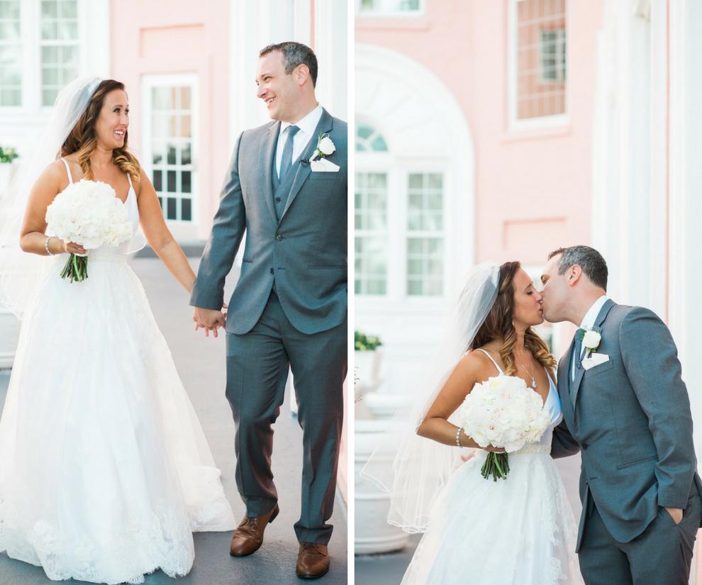 Florida Bride and Groom First Look Wedding Portrait