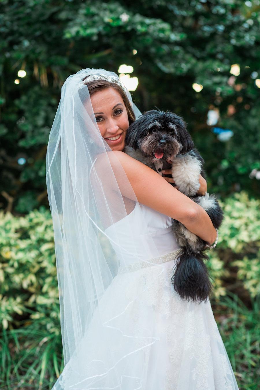 Bride Wedding Portrait with Dog | St. Petersburg Pet Wedding Planner Fairytail Petcare
