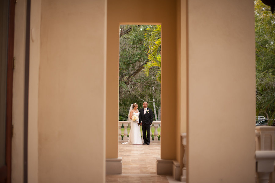 Outdoor, Bride and Groom South Tampa Wedding Portrait