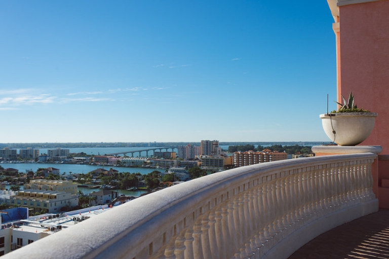 Balcony View from the Hyatt Regency Clearwater Beach Wedding Venue