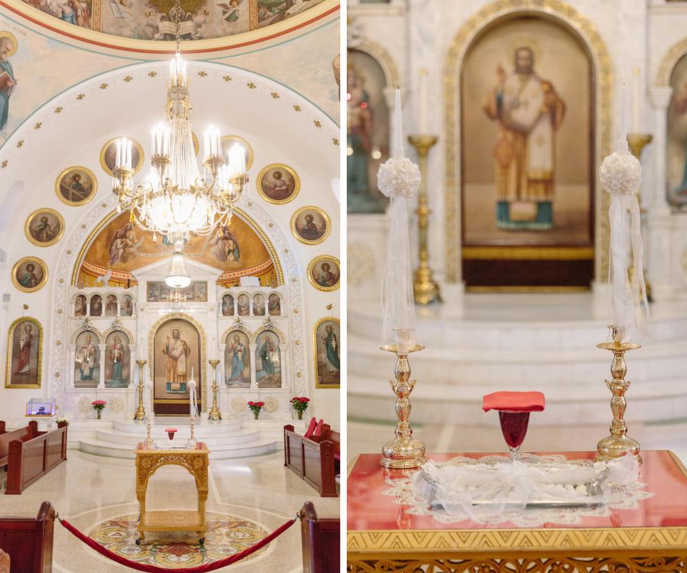 Traditional Greek Wedding Ceremony Venue St. Nicholas Greek Orthodox Cathedral Church Interior in Tarpon Springs Florida