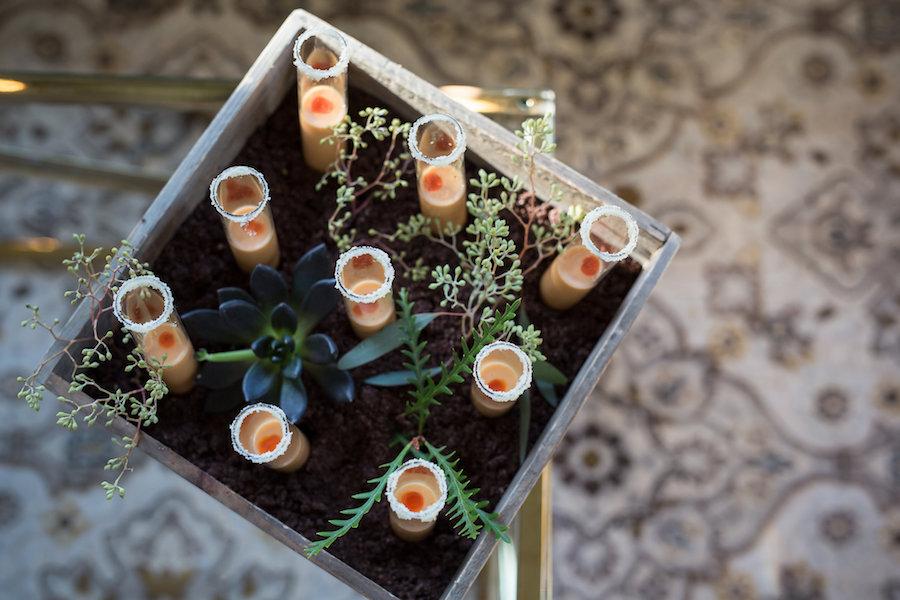 Unique Cocktail Hour Hors d'oeuvre Soup Shooters | Wedding Reception Food Ideas | Waterfront Luxury Hotel Wedding Venue Ritz Carlton Sarasota