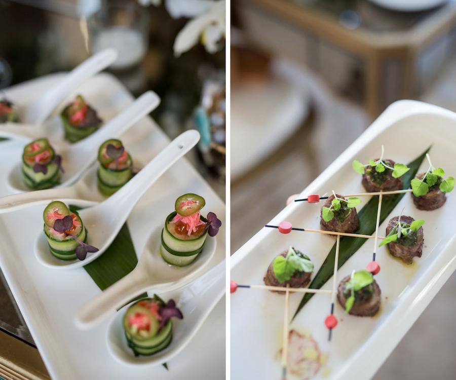 Unique Cocktail Hour Hors d'oeuvres | Wedding Reception Food Ideas | Waterfront Luxury Hotel Wedding Venue Ritz Carlton Sarasota