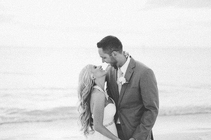 Bride and Groom Gulf of Mexico Florida Wedding Portrait   Tampa Bay Hotel Wedding Venue Hyatt Clearwater Beach Regency