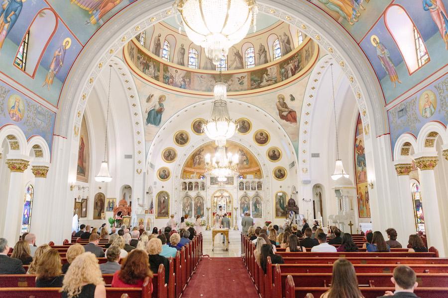 Traditional Greek Church Wedding Ceremony   Tarpon Springs Greek Church St. Nicholas
