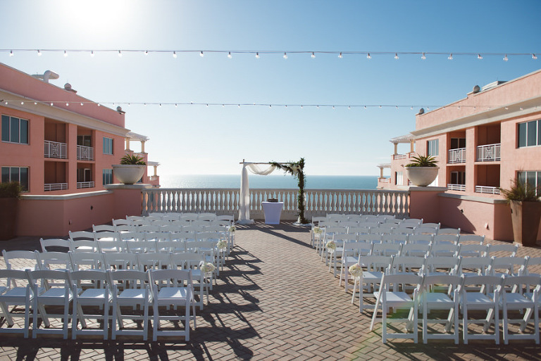 Elegant Clearwater Beach Wedding Hyatt Regency Maggie And Mike S Outdoor Featured A Rooftop Ceremony Overlooking