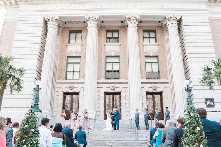 Downtown Tampa Outdoor Wedding Ceremony at Le Meridien | Tampa Wedding Planner Inspire Weddings and Events