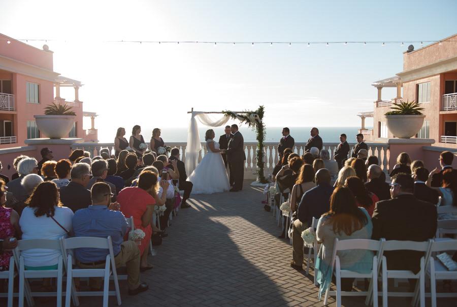 Florida, Outdoor Beachfront Wedding Ceremony at Hyatt Regency Clearwater Beach Wedding Venue | Clearwater Wedding Planning by Kimberly Hensley Events